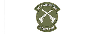 "AC-130N ""MY FAVORITE TIME IS QUIET TIME"" PVC PATCH (OD)"