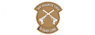 "AC-130P ""MY FAVORITE TIME IS QUIET TIME"" PVC PATCH (TAN)"