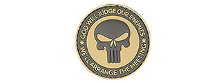 "AC-130R ""GOD WILL JUDGE OUR ENEMIES"" PVC PATCH (TAN/BK)"
