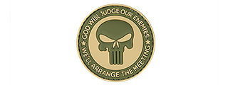"AC-130S ""GOD WILL JUDGE OUR ENEMIES"" PVC PATCH (TAN/OD)"