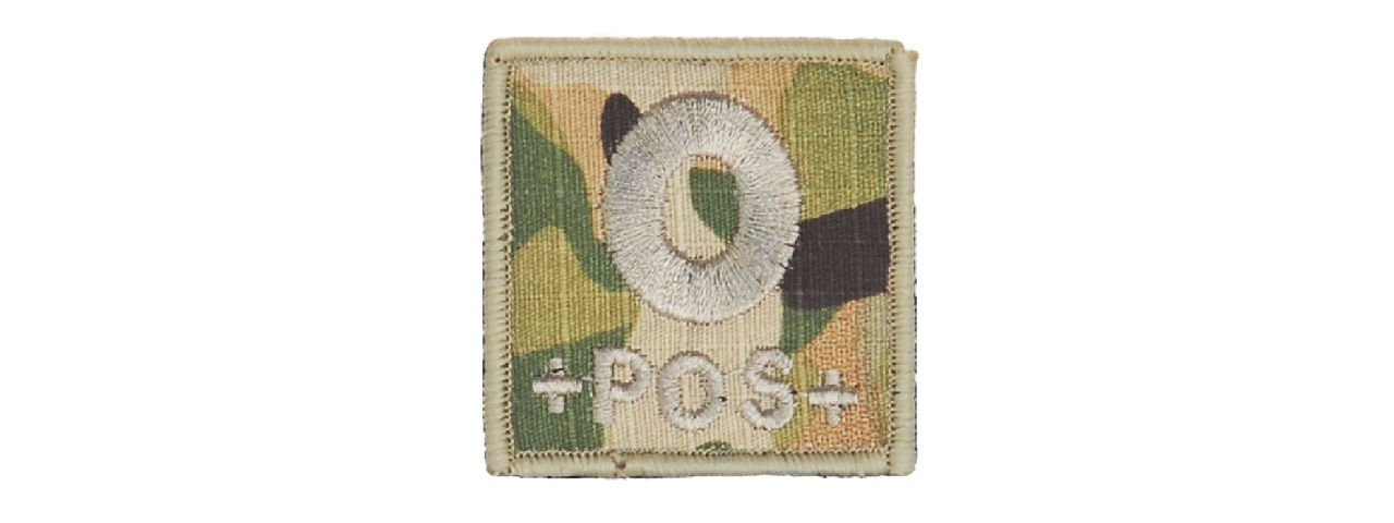 AC-181O BLOOD TYPE-O (CAMO) PATCH