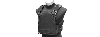 AMA LASER CUT AIRSOFT PLATE CARRIER W/ MOLLE WEBBING - BLACK