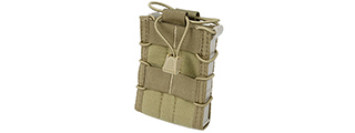 AC-302K CROSS MODULAR SINGLE RIFLE MAGAZINE POUCH (KHAKI)