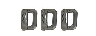 AC-325G SET OF 3 TYPE D QUICK HOOK SMALL SIZE (FOLIAGE GREEN)