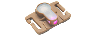 AC-328TP MOLLE SYSTEM (PINK LED) STROBE LIGHT (DARK EARTH)