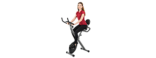 AU-504B AUWIT MAGNETIC EXERCISE BIKE W/ TENSION CONTROL (BLACK)