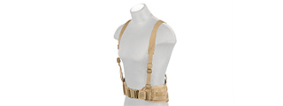 CA-1060T MOLLE BATTLE BELT W/ SUSPENDERS (TAN)