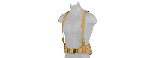 CA-1060KN MOLLE BATTLE BELT W/ SUSPENDERS (KHAKI)