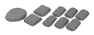 CA-1103B CP HELMET PROTECTIVE PADS, SET OF 9