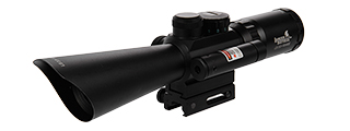 CA-1404 3.5-10X40 ER RED & GREEN ILLUMINATED RIFLE SCOPE W/ LASER SIGHT