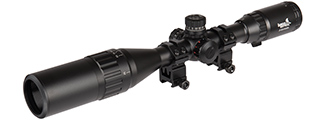 CA-1407 LANCER TACTICAL 3-12X40 AOL RED/GREEN/BLUE ILLUMUNINATED SCOPE