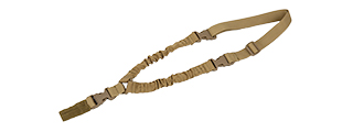 CA-142T LANCER TACTICAL SINGLE POINT QUICK RELEASE BUNGEE GUN SLING (DARK EARTH)