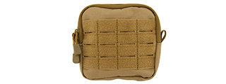 CA-1500TN ENCLOSED M4 EMT UTILITY POUCH (TAN)