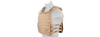 CA-1506T TACTICAL PLATE CARRIER (TAN)