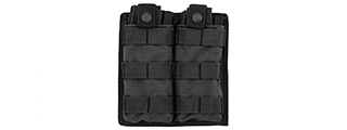 CA-1513BN DOUBLE MOLLE POUCH (BK)