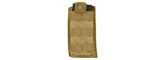 CA-1514TN SINGLE MOLLE POUCH (TAN)