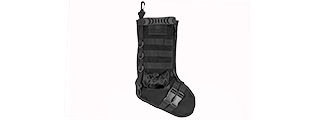 CA-2195B 600D POLYESTER TACTICAL STOCKING MOLLE PANEL (BLACK)
