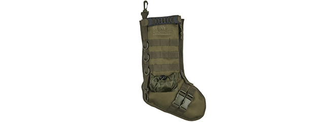 CA-2195G 600D POLYESTER TACTICAL STOCKING MOLLE PANEL (OD GREEN)