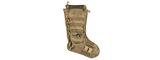 CA-2195T 600D POLYESTER TACTICAL STOCKING MOLLE PANEL (TAN)