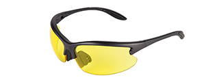 CA-224Y LANCER TACTICAL SAFETY SHOOTING GLASSES (YELLOW)