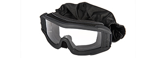 CA-226B LANCER TACTICAL UV400 CLEAR LENS SAFETY GOGGLES (BLACK)