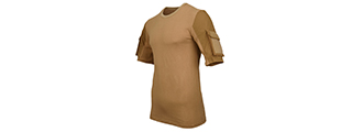 CA-2741CB-L LANCER TACTICAL SPECIALIST ADHESION ARMS T-SHIRT - LARGE (COYOTE BROWN)