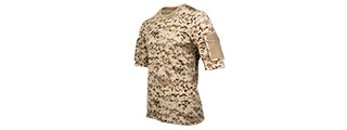 CA-2741DD-L LANCER TACTICAL SPECIALIST ADHESION ARMS T-SHIRT - LARGE (DESERT DIGITAL)