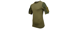CA-2741G-XS LANCER TACTICAL SPECIALIST ADHESION T-SHIRT - X-SMALL (GREEN)