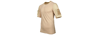 CA-2741T-M LANCER TACTICAL SPECIALIST ADHESION ARMS T-SHIRT - MEDIUM (TAN)