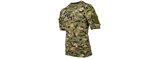 CA-2741WD-XXL LANCER TACTICAL SPECIALIST ADHESION ARMS T-SHIRT - XXL (WOODLAND DIGITAL)