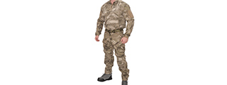 RUGGED COMBAT UNIFORM SET w/ SOFT SHELL PADDING (AT-AU), XL
