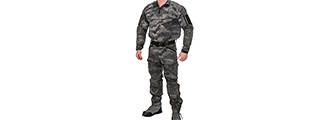 RUGGED COMBAT UNIFORM SET w/ SOFT SHELL PADDING (AT-LE), MED