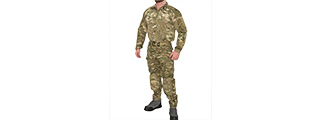 RUGGED COMBAT UNIFORM SET w/ SOFT SHELL PADDING (MODERN CAMO), MED