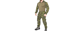 CA-2760MT-L COMBAT TACTICAL UNIFORM SET (CAMO TROPIC), LRG