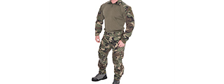 CA-2760WC-XXL COMBAT TACTICAL UNIFORM SET (WOODLAND), 2XL
