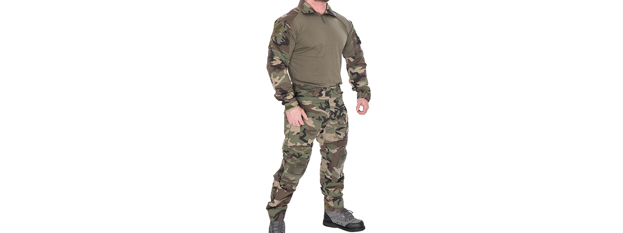 CA-2760WC-S COMBAT TACTICAL UNIFORM SET (WOODLAND), SM