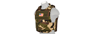 CA-302WN NYLON BODY ARMOR VEST (WOODLAND)