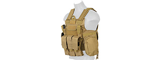 Lancer Tactical CA-303T Tactical Strike Plate Carrier Vest in Tan