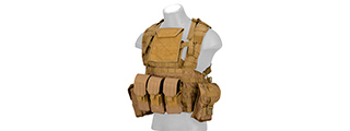 Lancer Tactical CA-307 Modular Chest Rig PALS MOLLE Vest w/ Hydration Pack Slot