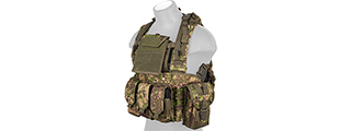 CA-307P MODULAR CHEST RIG (PC GREEN)
