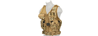 CA-310CN CROSS DRAW VEST w/HOLSTER (CAMO)