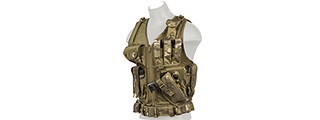CA-310MTN NYLON CROSS DRAW VEST w/HOLSTER (CAMO TROPIC)