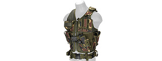 Lancer Tactical CA-310W Cross Draw Vest in Woodland