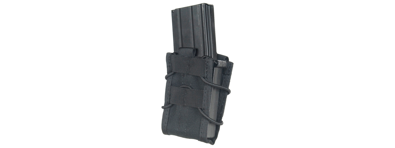 LANCER TACTICAL SINGLE MOLLE MAGAZINE POUCH FOR M4 / M16 (BLACK)