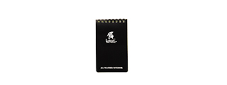 CA-5018 OUTDOOR MILITARY STYLE WEATHERPROOF 4X6 NOTEPAD (BLACK)