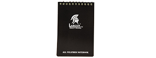 CA-5019 OUTDOOR MILITARY STYLE WEATHERPROOF 3X5 NOTEPAD (BLACK)