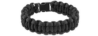 CA-5021 9-INCH PARACORD BRACELET W/ SMALL BUCKLE (BLACK)