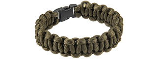 CA-5022 8-INCH PARACORD BRACELET W/ SMALL BUCKLE (OD GREEN)