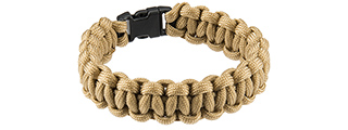 "CA-5024 8"" PARACORD BRACELET W/ SMALL BUCKLE (CB)"