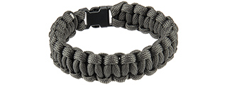 "CA-5026 8"" PARACORD BRACELET W/ SMALL BUCKLE (GRAY)"
